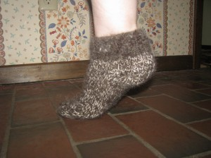 Sock made out of Dog Hair